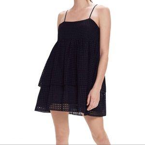 Urban Outfitters Katarina Eyelet Tiered Mini Dress